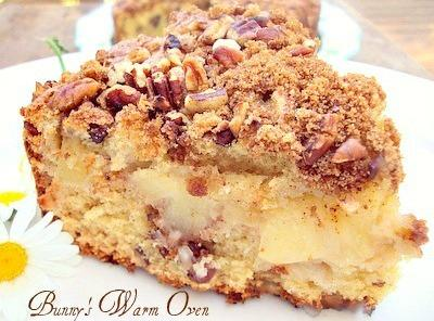 Apple Nut Sour Cream Coffee Cake Recipe | Just A Pinch Recipes