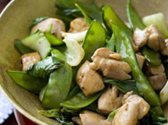 Stir-Fried Chicken with Bok Choy Recipe | Just A Pinch Recipes