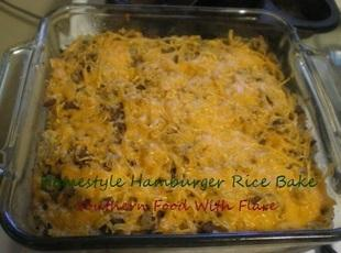 Homestyle Hamburger Rice Bake