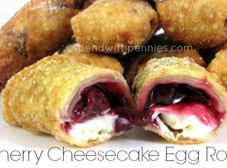 Cherry Cheesecake Egg Rolls Recipe