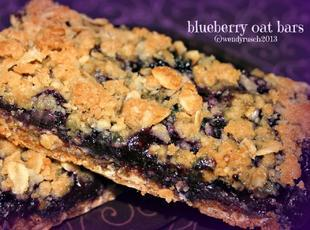 Delish Blueberry Oat Bars Recipe