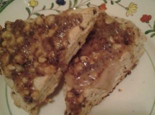 Spiced Scones With a Maple and Walnut glaze Recipe