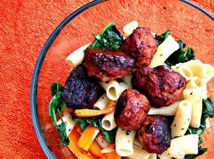 Rigatoni with Turkey Meatballs