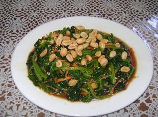 17  Spinach and Peanut Salad Recipe