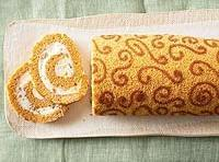 Pumpkin Cake Roll With Toffee Cream Cheese Filling Recipe | Just A ...