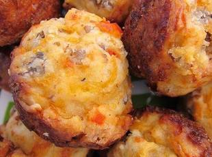 CREAM CHEESE SAUSAGE BALLS Recipe