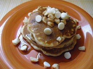 White Chocolate Chip Macadamia Nut Pancakes Recipe