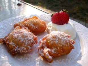 Strawberry Beignets with Homemade Whipped Cream Recipe
