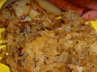 German Sauerkraut & Bratwurst & Bacon Onion Potatoes Recipe