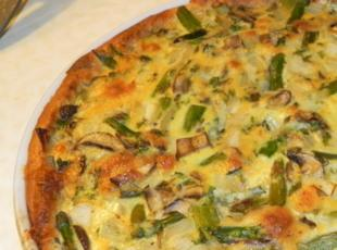 Asparagus and Mushroom Quiche  WW value:9 pts Recipe