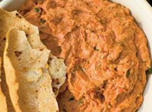 Sun-dried Tomato Cheese Spread with Roasted Garlic Recipe