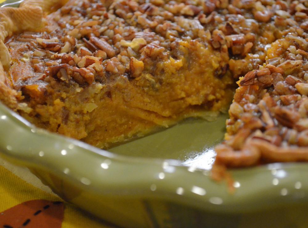 RONALD REAGAN'S PUMPKIN PECAN PIE Recipe | Just A Pinch ...