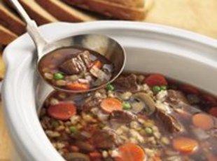 Slow Cooker Beef-Barley Soup