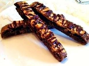 Easy Peanut Butter chip Brownie Biscotti Recipe