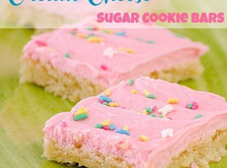Cream Cheese Sugar Cookie Bars - Real Mom Kitchen Recipe