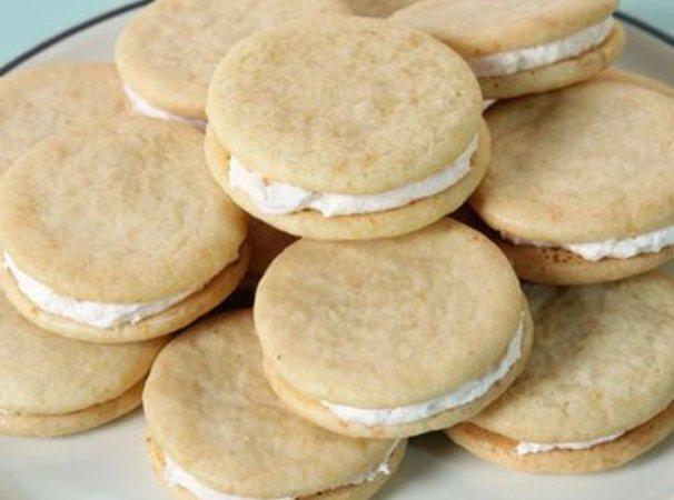 Pink Grapefruit Sandwich Cookies Recipe | Just A Pinch Recipes