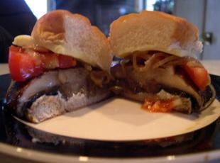 Portabella Mushroom Burger with carmelized onions Recipe