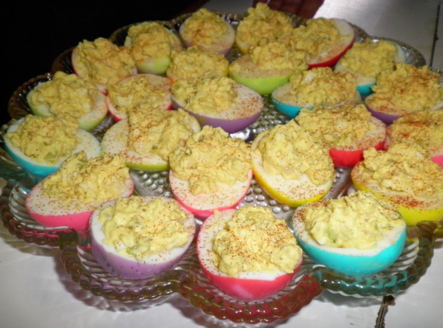 Colored Deviled Eggs Recipe