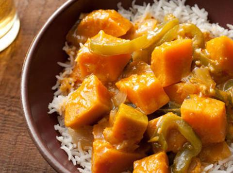 Thai Red Curry with Kabocha Squash Recipe | Just A Pinch Recipes