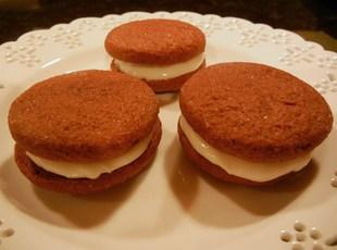 Chocolate Orange Sandwich Cookies with Ginger