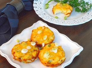 Mashed Potato Cups with Bacon, Cheese and Scallion Recipe