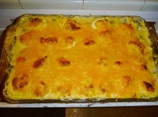 Deviled Egg & Spinach Casserole