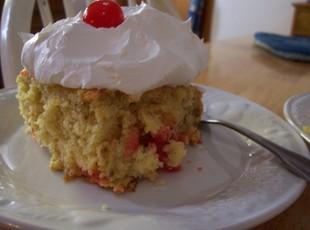 Mom's Lemon Cherry Banana Cake Recipe
