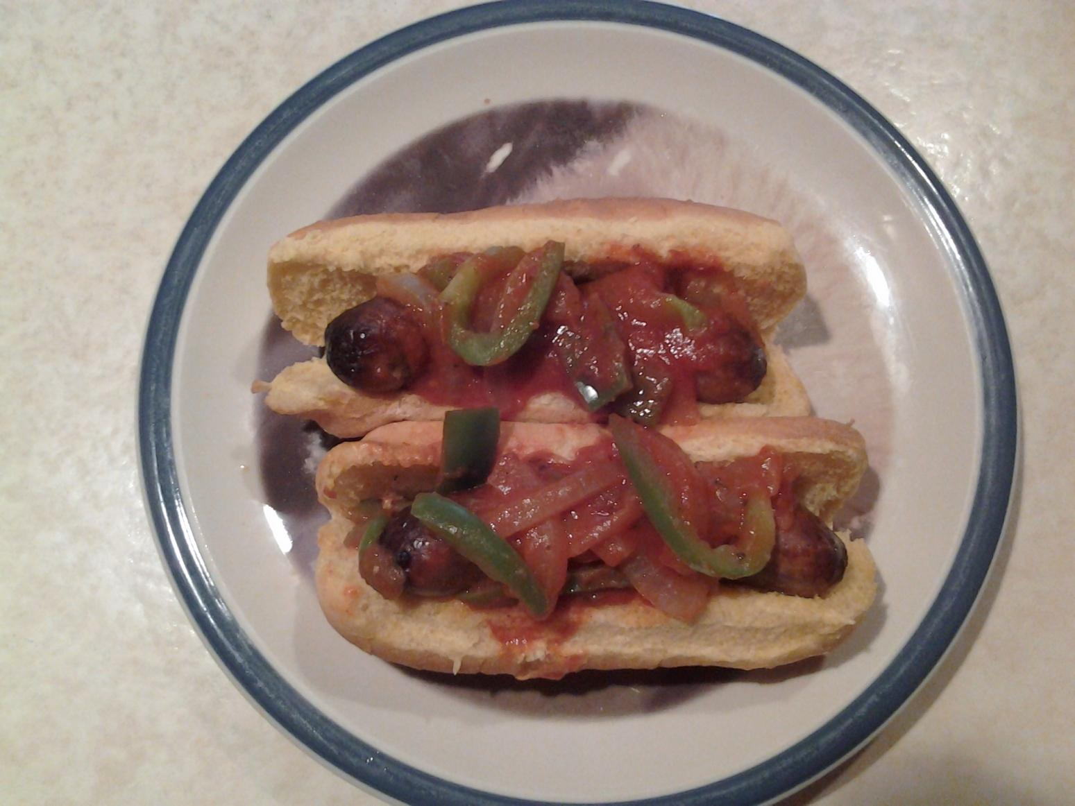 Crock pot Sausage, onions and Pepper subs Recipe
