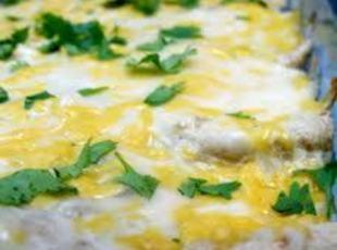 Cheesy & Creamy Chicken Enchiladas Recipe