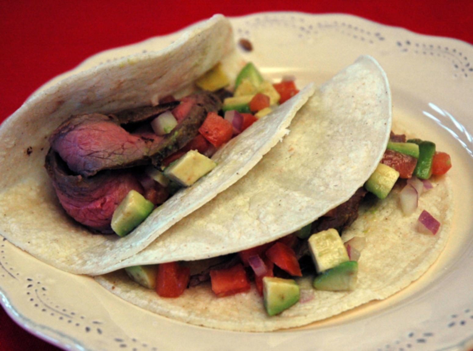 Steak Tacos With Cucumber-Avocado Salsa Recipes — Dishmaps