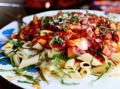 Chicken Mozzarella Pasta Recipe | Just A Pinch Recipes