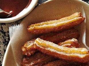 Anise Churros with Chocolate Sauce Recipe