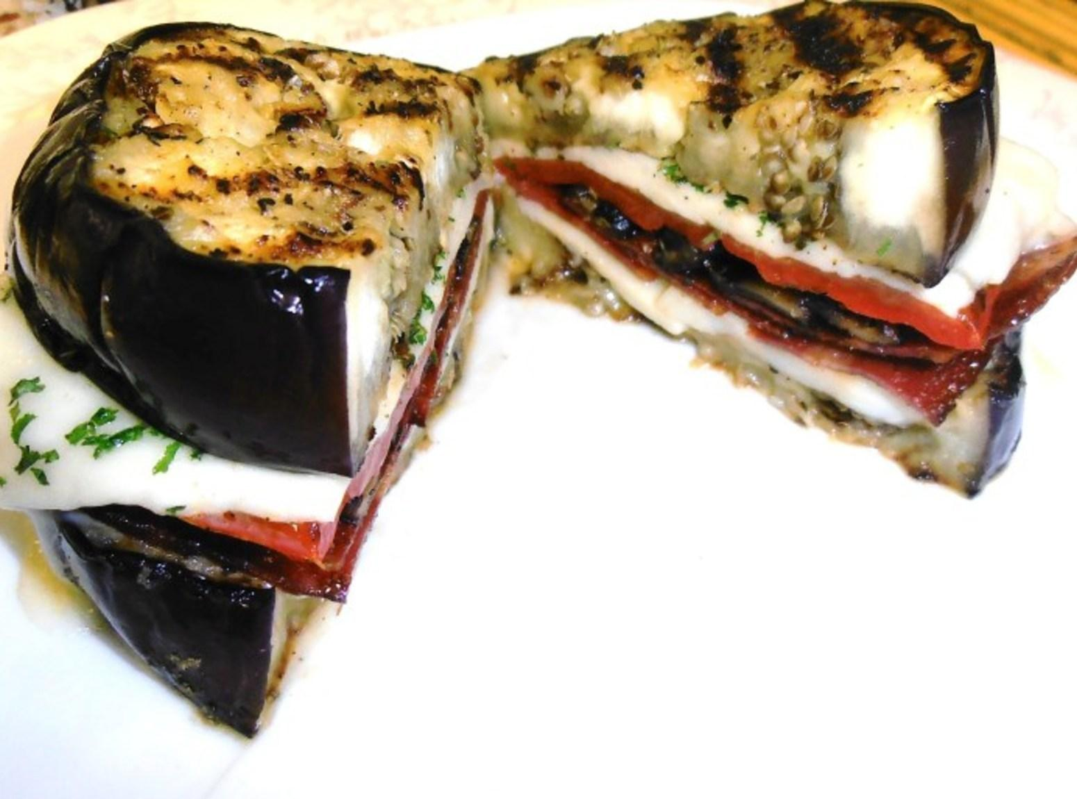 Grilled Eggplant Sandwich Recipe | Just A Pinch Recipes