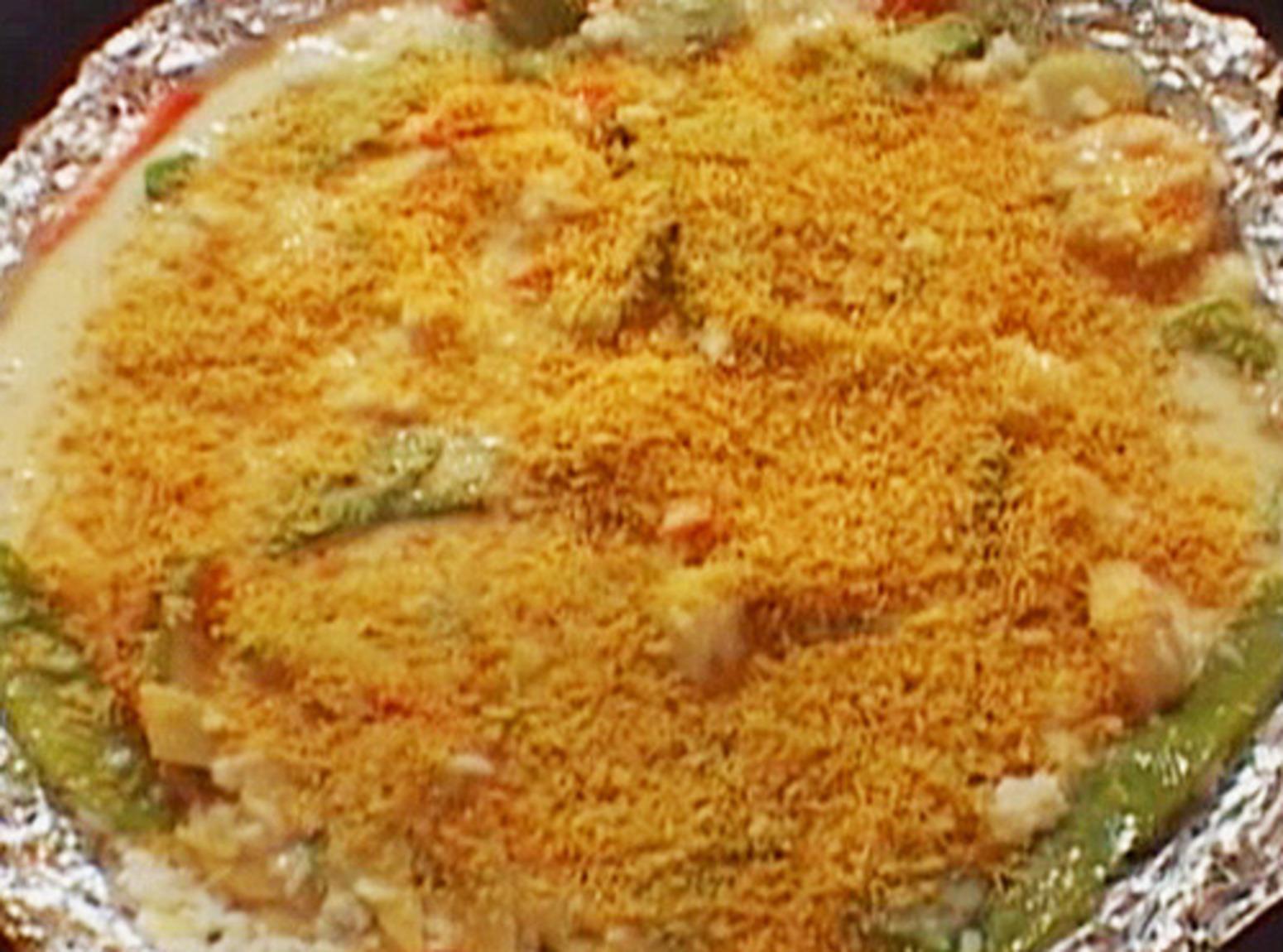 Alton Brown's Garlic Shrimp Casserole Recipe