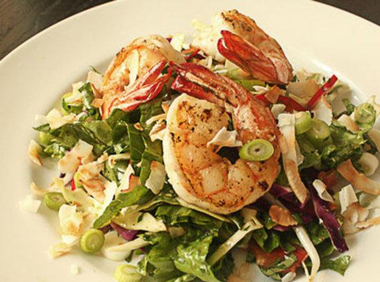 Coconut Shrimp Salad Recipe | Just A Pinch Recipes
