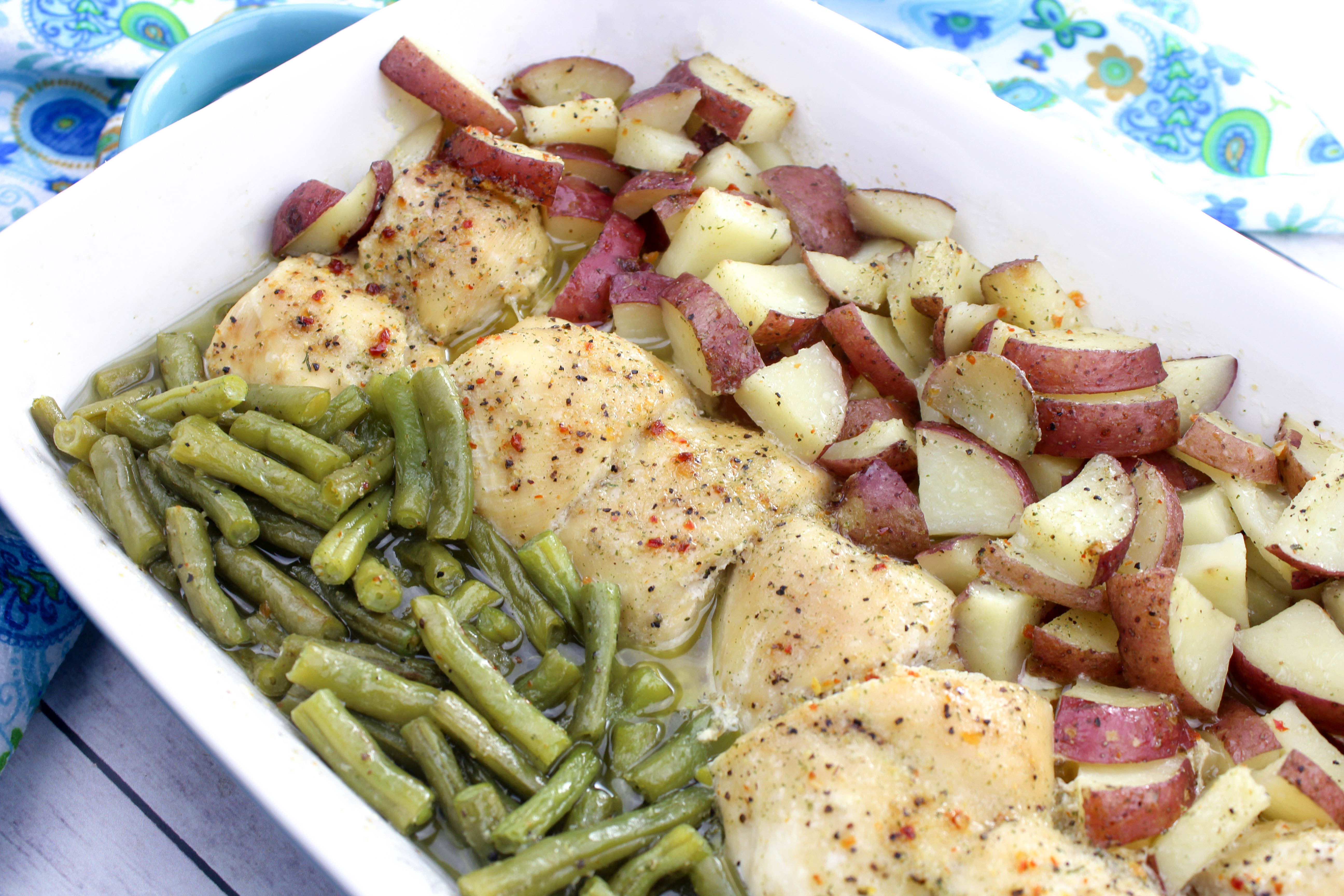Green Beanschicken Breasts And Red Skin Potatoes Recipe