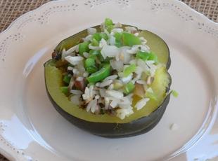 Acorn Squash w/ Rice n Mushroom medley Recipe