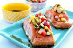 Glazed Salmon with Mango Salsa Recipe