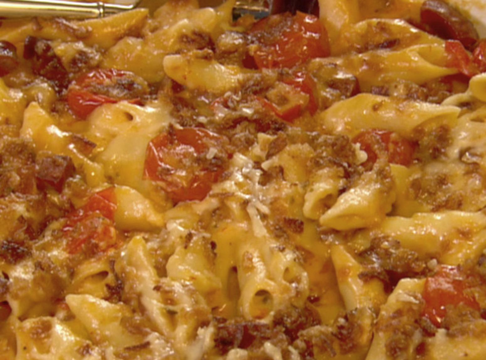 The Neely's Spicy Macaroni and Cheese with Chorizo Sausage Recipe ...
