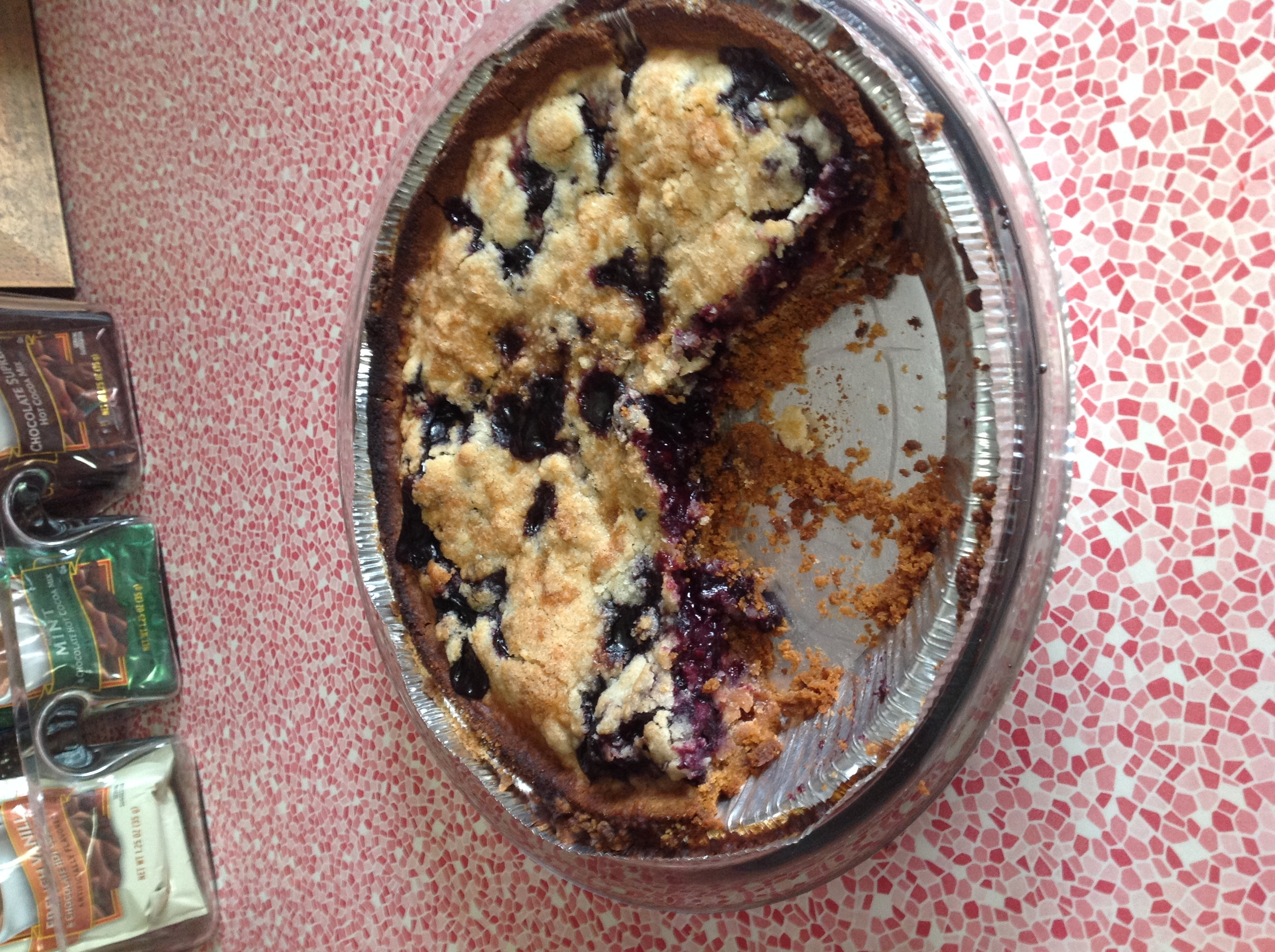 Blueberry Pie with Graham Cracker Crust and Crumb Topping Recipe