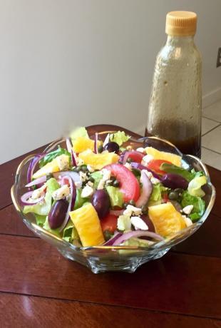 Sicilian Salad with Garlic Balsamic Dressing Recipe