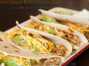 Slow Cooker Ranch Chicken Tacos Recipe