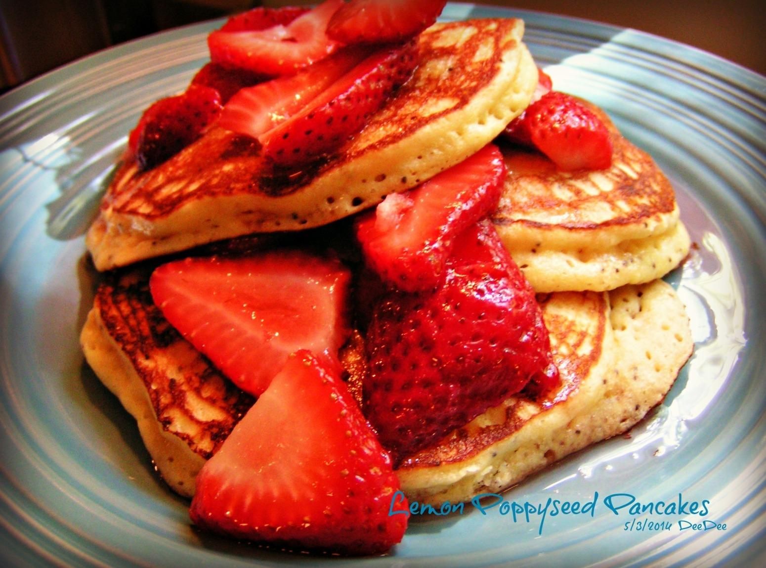 Lemon Poppy Seed Pancakes & Toppings Recipe | Just A Pinch Recipes