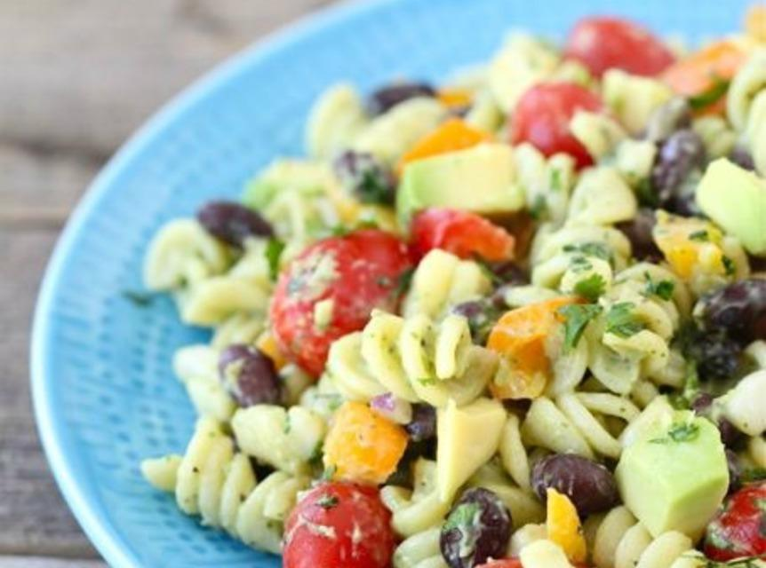 Southwestern Pasta Salad with Creamy Avocado Dressing Recipe | Just A ...