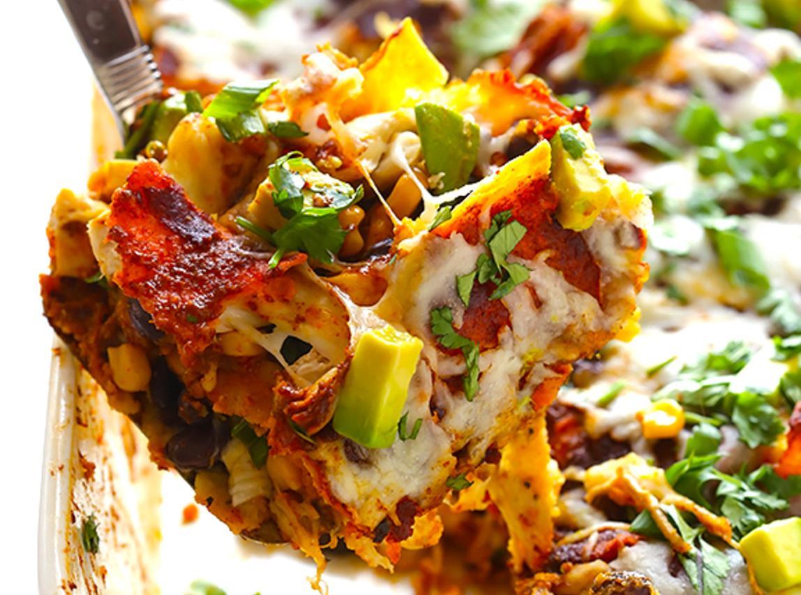 Chicken Enchilada Casserole (a.k.a. Stacked Chicken Enchiladas) Recipe ...