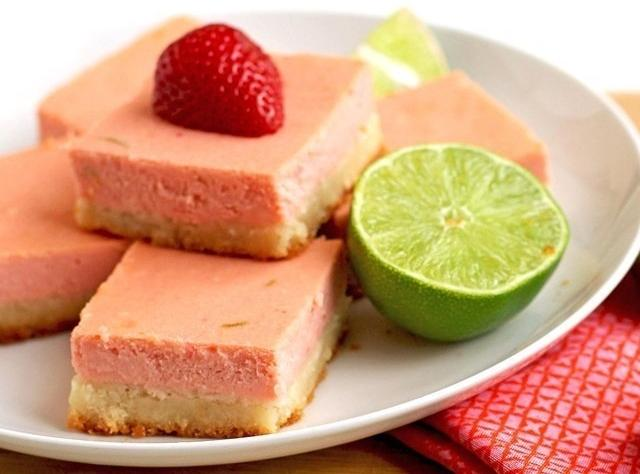 Strawberry Margarita Cheesecake Bars Recipe | Just A Pinch Recipes