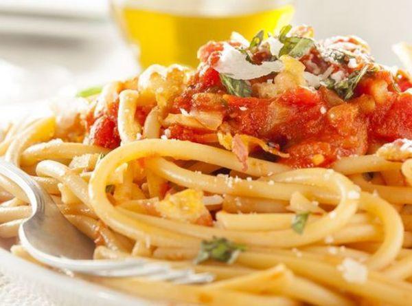 Bucatini all'Amatriciana Recipe 3 | Just A Pinch Recipes