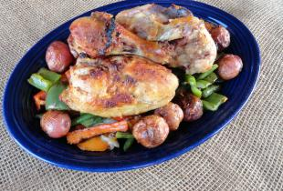 Grilled Gunniness Stout Chicken with Potatoes & Vegetables Recipe