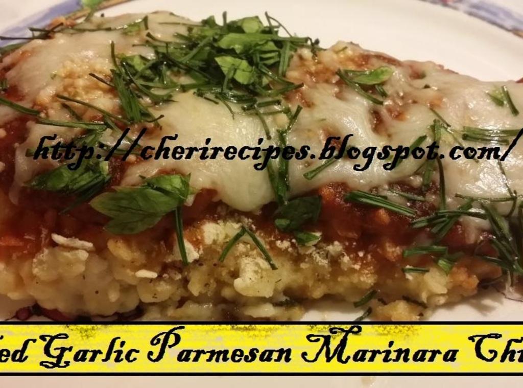 Baked Garlic Parmesan Marinara Chicken Recipe | Just A Pinch Recipes