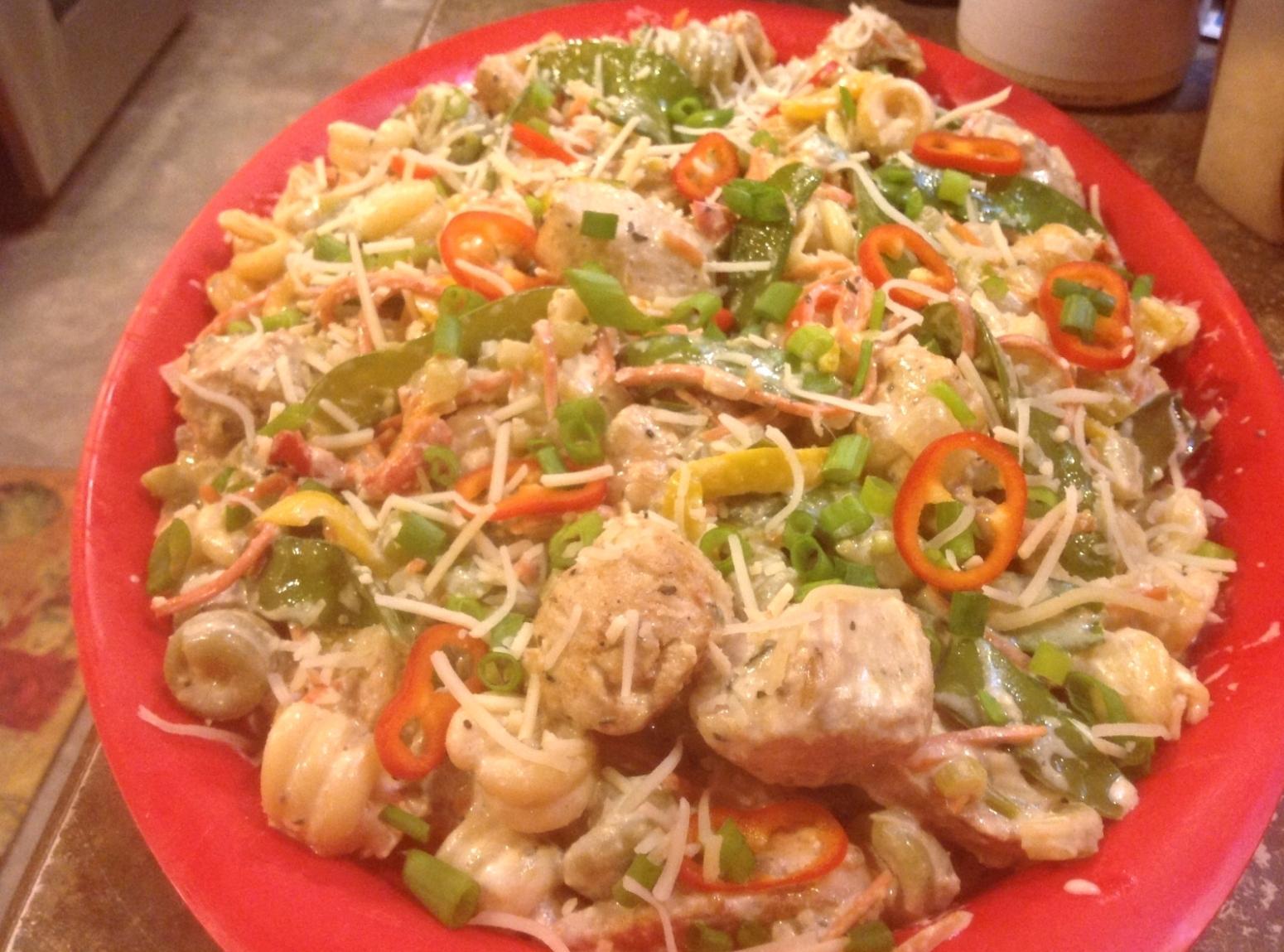 Low fat pasta dish